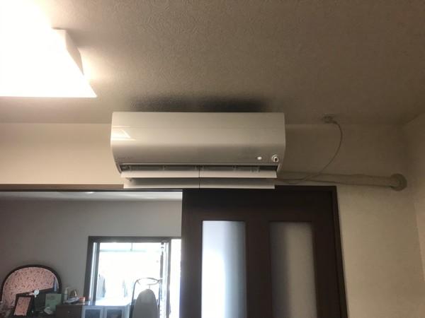 配管延長してエアコン工事