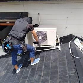 直角屋根置き架台に設置